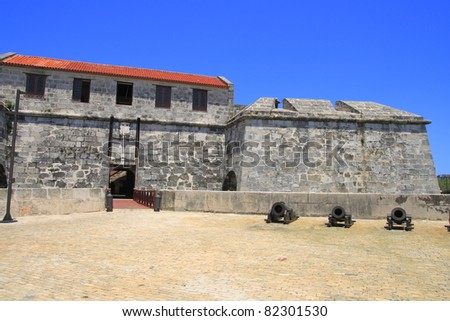 The fort de la Real Fuerza in Old Havana - stock photo