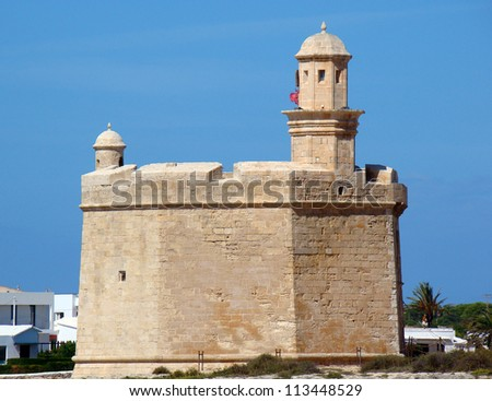 The fort guarding the entrance to the harbor Ciutadella, Menorca, Spain