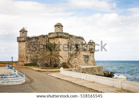 The fort or castle of Cojimar near Havana in Cuba