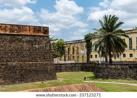 The Fortress in Belem do Para, Brazil - stock photo