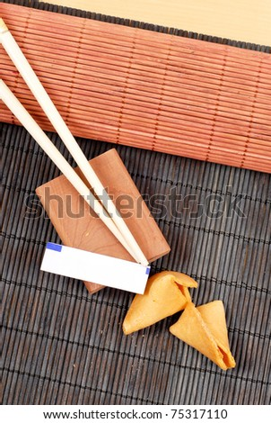 The Fortune (Custom Space on Fortune Cookie Paper) - stock photo