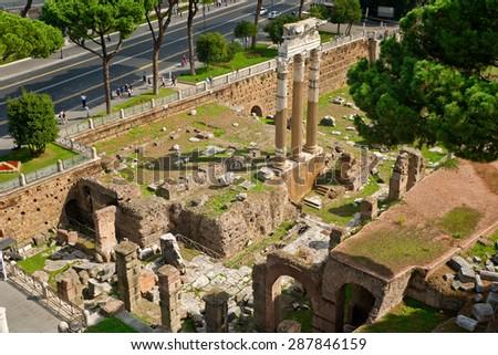 The Forum of Julius Caesar in Rome, Italy - stock photo