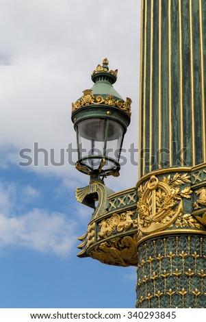 The fountain at the place de la concorde in Paris - stock photo
