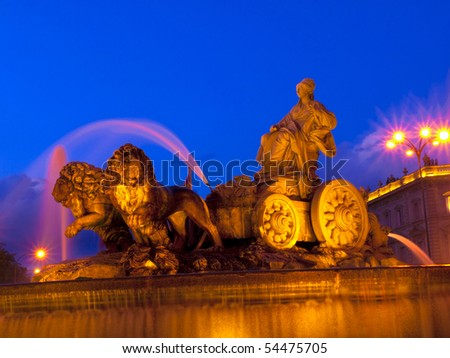 The fountain of Cibeles, Madrid - stock photo