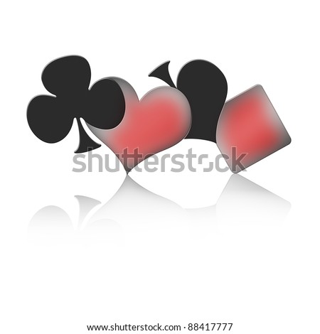 The four signs of a Poker game - stock photo