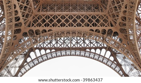 The fragment of Eiffel Tower in Paris, France.