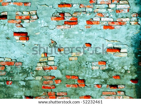 The fragment wall of brick close-up. - stock photo