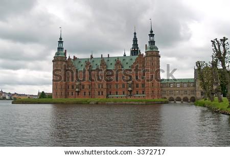The Frederiksborg Palace near Copenhangen, Denmark - stock photo