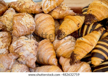 the fresh baked cookies fluffy croissants pastries