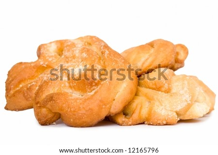 the fresh buns on a white background