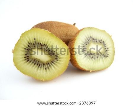 The fresh tropical fruits: the kiwi - stock photo