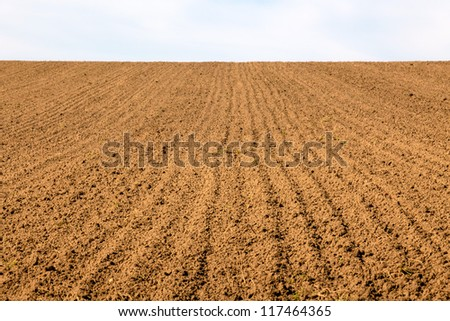 the freshly tilled fields of the farmers. background for statistics