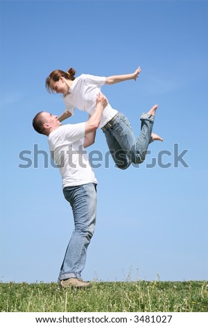 The friend throws up the girlfriend - stock photo