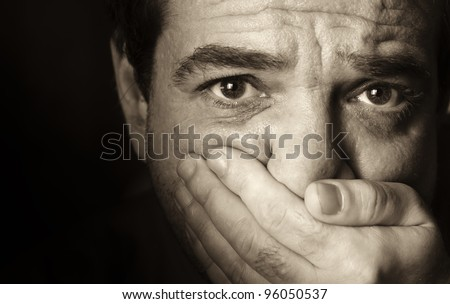 frightened man black and white wwwpixsharkcom images