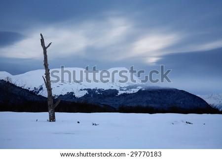 The Frigid Beauty Of The Kenai Peninsula, Alaska - stock photo