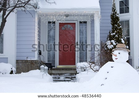 The front door in winter