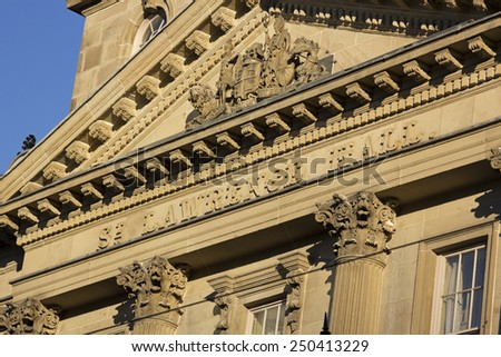 The front of St Lawrence Hall building in Toronto in Canada - stock photo