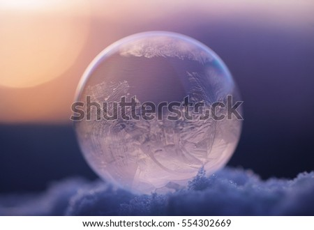 The frozen soap bubble