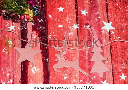 The fun and joy of designing and making your own christmas decorations / Christmas background / Nothing like having all the family members chipping in their efforts for this occasion, merry christmas - stock photo