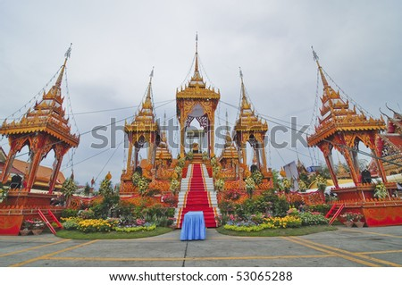The funeral rites of the very important person, Thailand