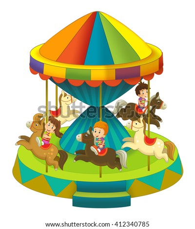 The funfair element - isolated - illustration for the children - stock photo