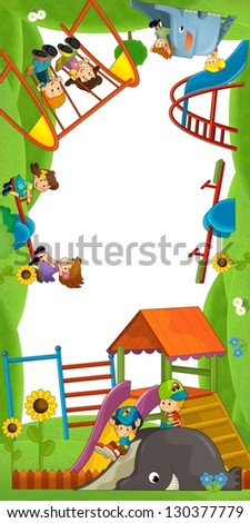 The funfair - playground - the framing for misc usage - illustration for the children