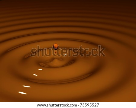The fused dairy chocolate - stock photo