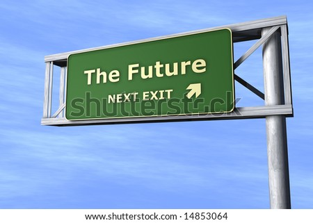 The Future - Next exit - stock photo
