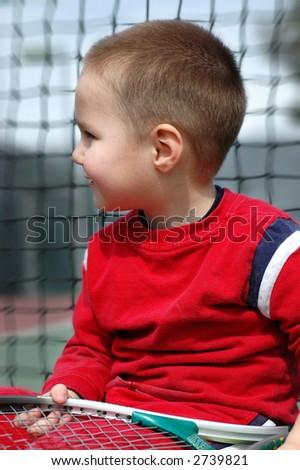 The future of tennis - stock photo