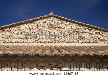 The Gable of a Building in Provence, France.