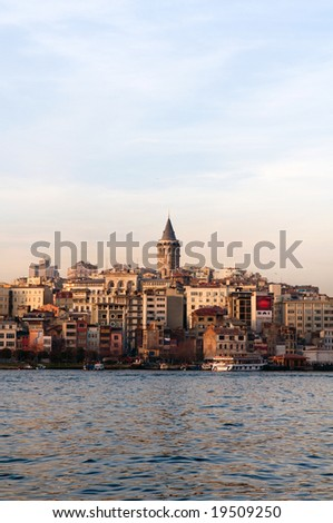 The Galata Tower, Istanbul - stock photo