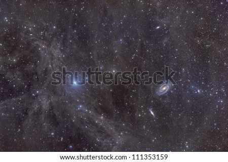 The galaxies M81 and M82 as seen through the Intergalactic Flux Nebula (IFN)