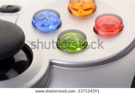 The game controller on a background - stock photo