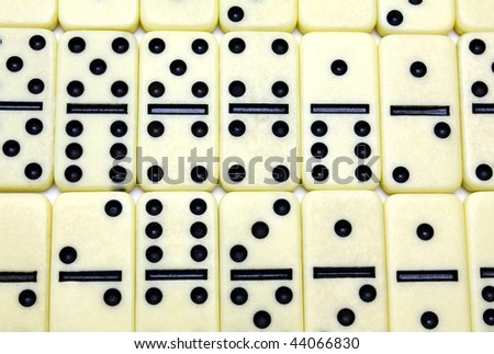 the game of domino is decomposed on a white background