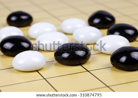 the game of go - stock photo