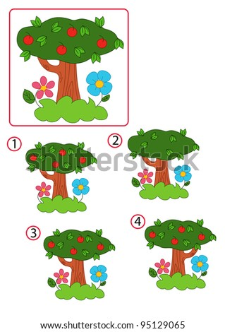 the game of the equal tree - stock photo
