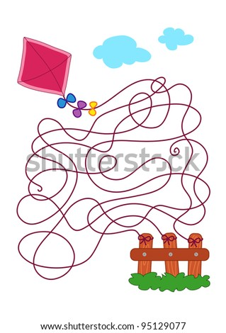 the game of the kite - stock photo