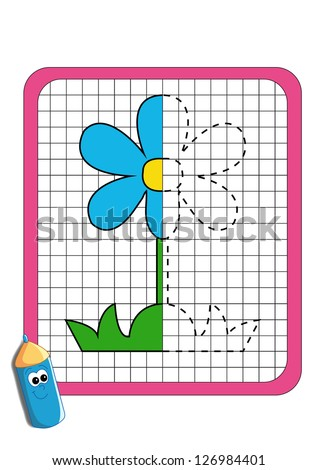 the game of the symmetry, flower - stock photo