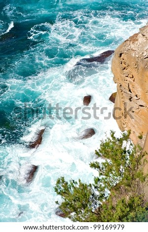 The Gap (an ocean cliff) eastern Sydney, Australia. - stock photo