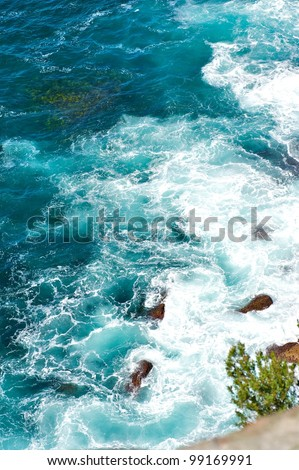 The Gap (an ocean cliff) eastern Sydney, Australia. - stock photo
