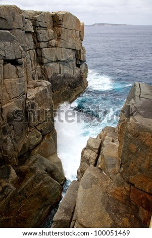 The Gap, Torndirrup National Park, Albany, Western Australia - stock photo