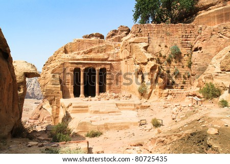 The Garden Hall, dated from 200BC-200AD, Petra, Jordan - stock photo