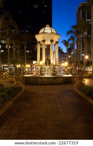 The Gaslamp Quarter is a 16 1/2 block historical neighborhood in downtown San Diego, California.