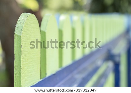 The gate of a house made of. The material mimics wood Fiber Cement - stock photo