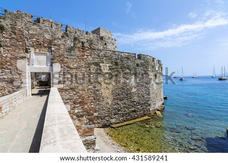 The gate of Bodrum Castle, Turkey - stock photo