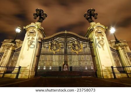 The gate of Buckingham palace - stock photo