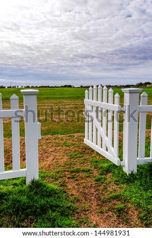 The gate which leads you to the golf course and therefore to the enjoyment