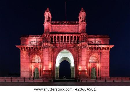 The Gateway of India in Mumbai, India - stock photo