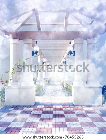 The gateway to heaven - stock photo