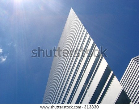 The Gateway Towers on a clear blue sunny day - stock photo
